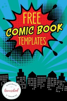 FREE Comic Book Templates for National Comic Book Day