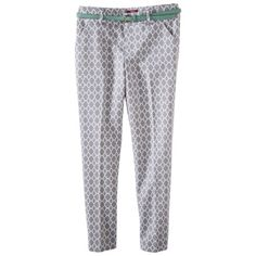 Merona® Women's Tailored Ankle Pant w/Belt (Fit 2) - Prints