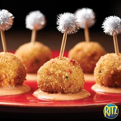 Looking for the perfect appetizer? These RITZ Crab Balls with Sriracha Aioli are delicious and easy! We also hear sriracha is really trendy right now...
