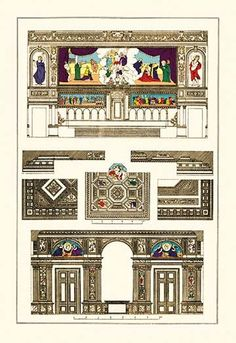 Decoration of Large Halls, Polychrome