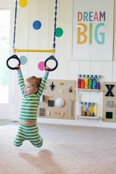 Colorful playroom via Apartment Therapy. #laylagrayce #playroom