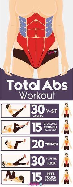5 best total abs workout for flat tummy... #healthandfitnessweightloss