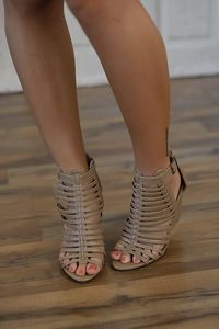 1115d38f9fee Strappy gladiator wedge sandal with buckle and 3