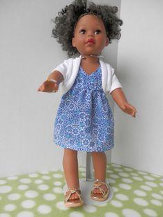 American Girl Doll Clothes  Silky Blue Dress with by MyGrandmaSews, $15.00