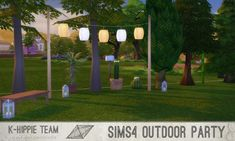 Mod The Sims: 5 Breezy Lanterns - Outdoor Party serie - volume 1 by Blackgryffin • Sims 4 Downloads