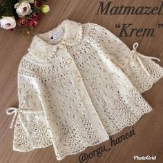 These Braids More 33 Baby Vest Cardigan Dress Knitwear - Knitting Crochet Knitting For Kids, Crochet For Kids, Baby Knitting Patterns, Knitting Designs, Baby Patterns, Crochet Ideas, Knit Baby Dress, Baby Cardigan, Hooded Cardigan