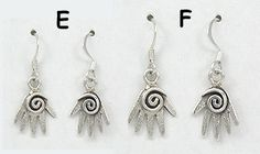 Authentic Native American Mystic Hand Earrings