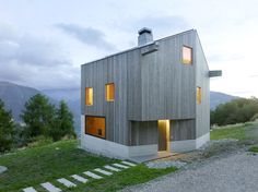 Savioz Fabrizzi Architectes - Chalet, Val d'Hérens 2015. The adjacent structure is a garage and utility space designed by the same architects. Photos © Thomas Jantscher.