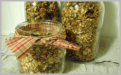 Homemade Granola.   (Not my recipe, but I think I might try this one and see how different it tastes)