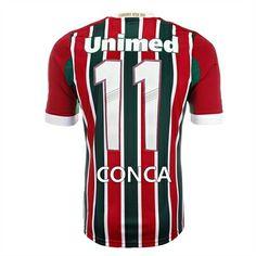 43a23e3235105 Camisa Fluminense I Conca 11 Adidas Tricolor - Personalize Patch CBF Grátis