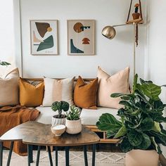 Sharing a fellow Canadiana's 🇨🇦 @boneill_athome beautiful space. Everything here is perfection! Hi Brianne, can I hang out here and keep your fiddle leaf fig company? I promise I'll put all the pillows back and probably won't spill my coffee. 🛌🏼. . . . . #fiddleleaffig #fiddleleaffigtree #livingroomdecor #livingroom #perfectroom #interiorlove #interiorstyle #interiordecorating #interior123 #chicdecor #bohostyle #mcm #mustardyellow #livingroominspo