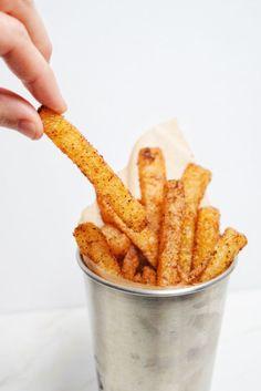 Low Carb Crispy Seasoned Jicama Fries | Personally Paleo