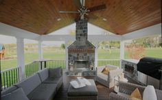15 Screened In Porch Fireplace Ideas Collections