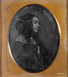 Lola Montez, profile with black veil. (1853)