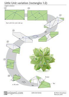 Kusudama - Little Unit variation diagram