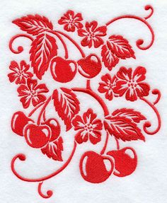 Simply Cherries - embroidery pattern