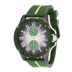 Xtreme Zunammy Men's Gun Metal Case and Dial with Green Strap Watch
