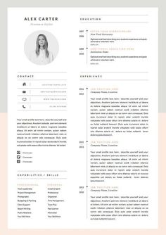 Modern Resume Template & Cover Letter Icon Set por OddBitsStudio If you like this design. Check others on my CV template board :) Thanks for sharing! Resume Layout, Resume Tips, Resume Cv, Resume Ideas, Cv Ideas, Free Resume, Resume Format, Resume Writing, Resume Review