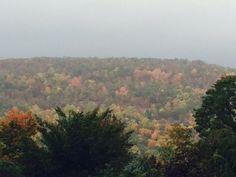Beautiful fall colors. Ramapo Mountains as seen from Walsh and Seminary Dr. Mahwah, NJ