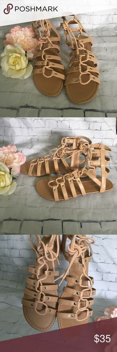 Gray Monroe Gladiator Flat Lace Up Sandals Gray Monroe Gladiator Flat Lace Up Sandals. Brand new - price firm. Will discount with bundle only. Thank you!!! Gray Monroe Shoes Sandals