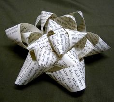 Shealynn's Faerie Shoppe: DIY Book Page Bow { Tutorial }