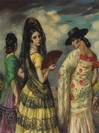 The afternoon of the Corrida, Granada by GEORGE OWEN WYNNE APPERLEY