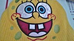nikelodeon-SPONGE-BOB-NWT-Embroidered-Pom-Knit-soft-fleece-lined-tie-fringe-hat