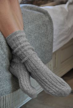 Cashmere Bed Socks. Perfect for cold winter nights to keep your tootsies warm!