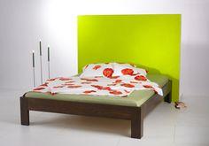 """Bett """"Basic"""" aus Massivholz Räuchereiche"""