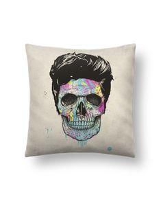 Cojín Piel de Melocotón 45 x 45 cm Death in Color - Balàzs Solti #cojines #decorativos #ideas #salon #modernos #divertidos #estampados #personalizados