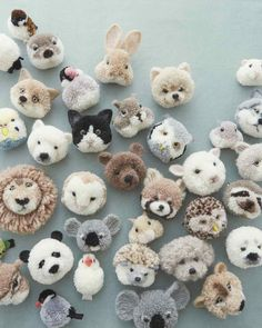 Diy Crafts - pompomcrafts,marthastewart-These Pom-Pom Animals Are Our New Craft Obsession for Fall New Crafts, Cute Crafts, Creative Crafts, Yarn Crafts, Fabric Crafts, Diy And Crafts, Craft Projects, Crafts For Kids, Arts And Crafts