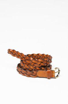 LaughPing- Skinny Braided Belt $6.99
