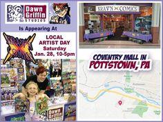 TODAY: KRAV'N COMICS Artist Day at the Coventry Mall in Pottstown! New original comics and kids books! RSVP: http://ift.tt/2kCfucd