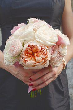 Bridesmaids bouquet #blisschicago #weddings #floral #pinksandwhite