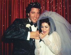 Elvis Presley and Priscilla Presley on their wedding day in 1967