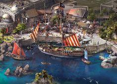 "Shanghaî Disneyland, ""Treasure Cove"" Pirates of Caribbean land"