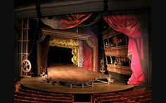 Scenic design. Love the false proscenium and forced perspective.