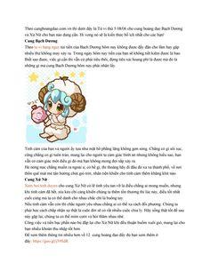 Theo cunghoangdao.com.vn thì dưới đây là Tử vi thứ 5 08/06 cho cung hoàng đạo Bạch Dương và Xử Nữ cho bạn nào đang cần. Hi vọng nó sẽ là kiến thức bổ ích nhất cho các bạn!