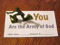 are the army of God You are the Army of God is palanca/ agape gift useful to both men's and women's weekend.You are the Army of God is palanca/ agape gift useful to both men's and women's weekend. Bible School Crafts, Sunday School Crafts, Bible Crafts, Childrens Sermons, Christian Crafts, Church Activities, Bible Activities, Kids Church, Church Ideas