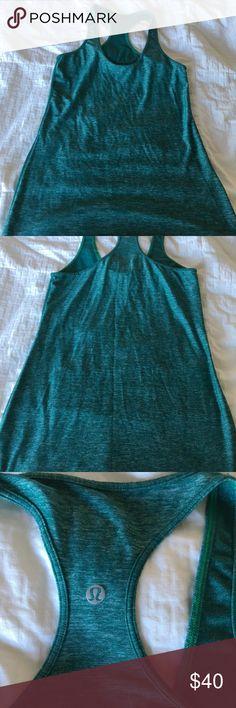 Lululemon tank top, worn twice Lululemon green tank top, size 8 lululemon athletica Tops Tank Tops