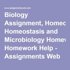 Biology assignments