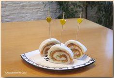 Rollitos de salmón y queso crema camembert
