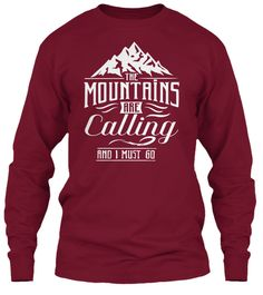 Mountains Shirt! Limited Edition. Cardinal Red T-Shirt Front