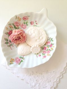 Vintage Shabby Chic Porcelain Floral Candy/Soap Dish Cottage Style Home Decor on Etsy, $22.00