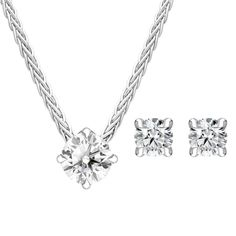 18ct White Gold Diamond Two Piece Gift Set, BLC-233 At C W Sellors, we have an expert team of diamond specialists who handpick and grade each jewel to meet our high standards and a team of talented in house designers who combine their talents to bring you our exclusive Diamond collection. Chosen for their rare white quality, each diamond we use has a minimum clarity of VS and minimum colour of G-H.  This beautiful gift set comprises: Pendant: Diamond Round Brilliant 0.23cts, sold complete… Jewelry Gifts, Jewellery, Christmas Gift Sets, High Standards, Rose Gold Jewelry, Jewelry Packaging, White Gold Diamonds, Natural Gemstones, Clarity