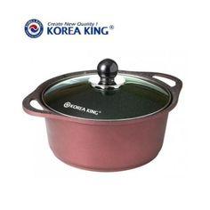 Nồi đá hoa cương Korea King nắp kiếng KDC 24CM