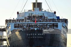 Cunard's Queen Elizabeth and Queen Mary make history in Long Beach Harbor at the Queen Mary on March 12, 2013 in Long Beach, California.