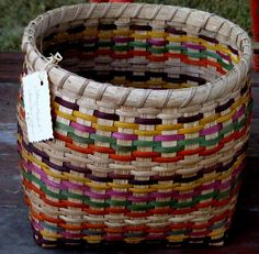 Floor Basket in Indian Corn colors...