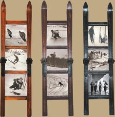 Ski Frames and ski coat rack Décor Ski, Ski Vintage, Ski Lodge Decor, Ideas Hogar, Recycling, Lake Cabins, Snow Skiing, Design, Furniture Stores