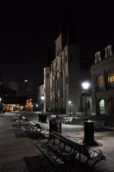 St. Louis Cathedral - Jackson Square in New Orleans at night